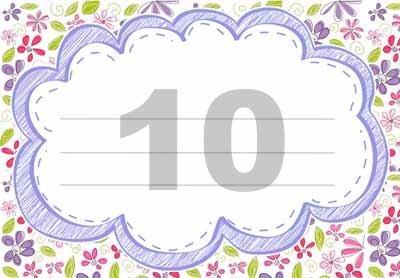 Шаблон этикетки 10