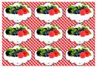 иконка. шаблон этикеток ягоды