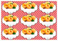 иконка. шаблон этикеток абрикос