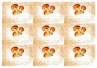 а4 шаблон грибы