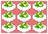 иконка. шаблон этикеток зеленое яблоко